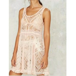 Nasty Gal Black Collection Pink Coverup Dress